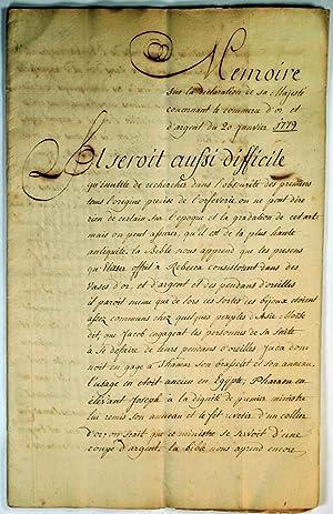 Mémoire sur la declaration de Sa Majesté concernant le commerce d'or et d'...