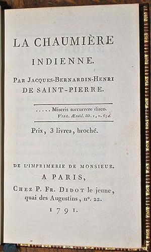 La Chaumière indienne.: SAINT-PIERRE (Bernardin de);
