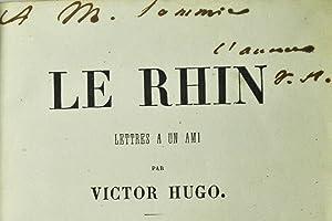 Le Rhin. Lettres à un ami.: HUGO (Victor);