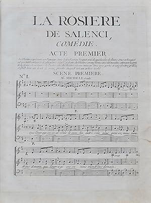 La Rosière de Salenci. Comédie en trois: FAVART (Charles-Simon);BLAISE (Adolphe-Benoît);PHILIDOR