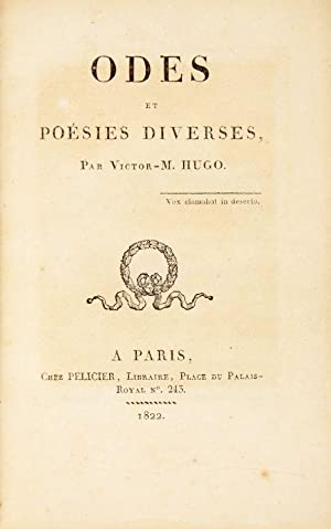 Odes Et Poesies Diverses De Hugo Victor Edition Originale