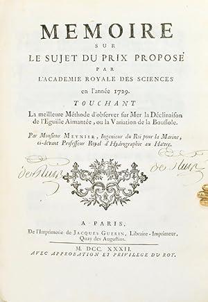 Mémoire sur le sujet du prix proposé par l'Académie Royale des Sciences ...