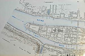 Plan de la Seine de Paris à Montereau dressé en 1893 par le Service de la Navigation ...