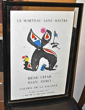 Le Marteau sans maître.: CHAR (René);MIRO (Joan);