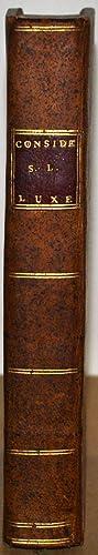 Considérations sur les Richesses et le Luxe.: SENAC DE MEILHAN (Gabriel);