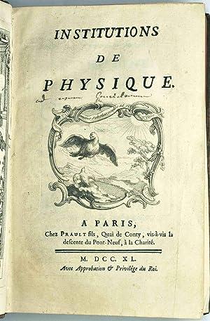 Institutions de physique.: DU CHATELET (Gabrielle-Emilie Le Tonnelier de Breteuil, marquise);