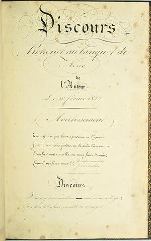 Mariage à Paris en 1827]. Bouquet de Mariée.