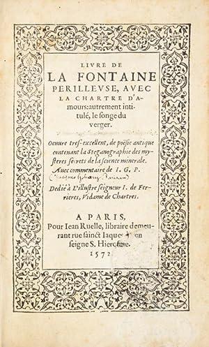 Livre de la fontaine perilleuse, avec la: GOHORY (Jacques);