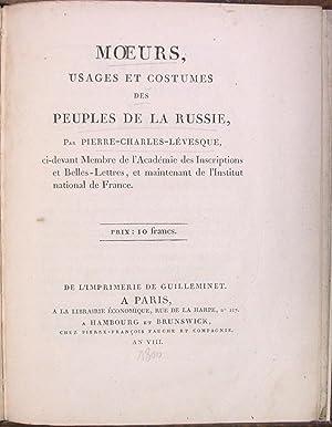 Moeurs, usages et costumes des peuples de la Russie.: LEVESQUE (Pierre-Charles);