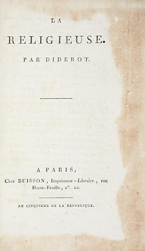 La Religieuse, par Diderot.: DIDEROT (Denis);