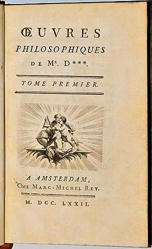 Oeuvres philosophiques de Mr. D***.: DIDEROT (Denis);