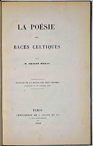 La Poésie des races celtiques.: RENAN (Ernest);