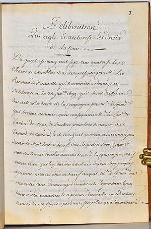 Chambre des Comptes et Cour des Aides de Provence. Délibération du 14 mai 1714].