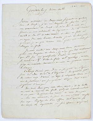 Lettre autographe signée du colonel Léopold Hugo à sa femme, 28 dé...