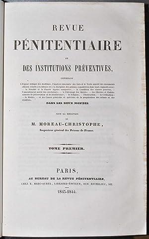 Revue pénitentiaire et des institutions préventives contenant l'Exposé ...