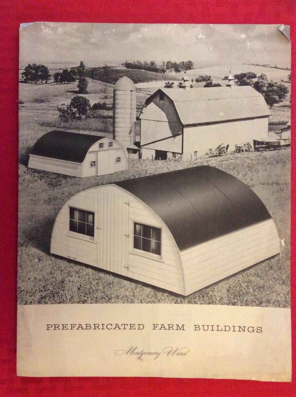 Prefabricated Farm Buildings By Montgomery Ward Good Soft Cover 1947 Boojum And Snark Books