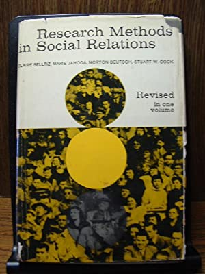 RESEARCH METHODS IN SOCIAL RELATIONS: Selltiz / Jahoda