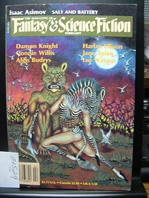 FANTASY AND SCIENCE FICTION - Feb, 1985: Damon Knight ---