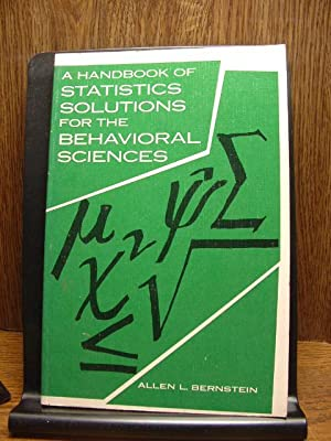 A HANDBOOK OF STATISTICS SOLUTIONS FOR THE BEHAVIORAL SCIENCES