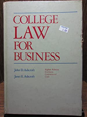 COLLEGE LAW FOR BUSINESS