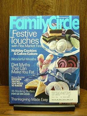 FAMILY CIRCLE MAGAZINE - November 25, 2003: Family Circle