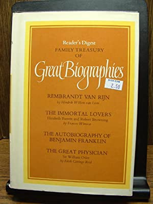 READER'S DIGEST FAMILY TREASURY OF GREAT BIOGRAPHIES: Reader's Digest