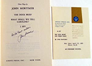 The Dock Brief & Other Plays: John Mortimer