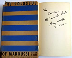 The Colossus of Maroussi: Henry Miller