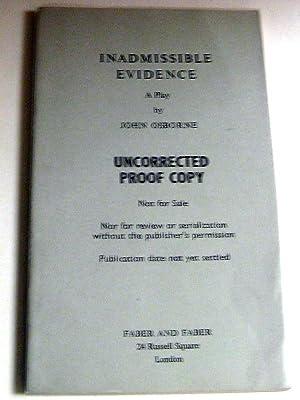 Inadmissible Evidence: John Osborne