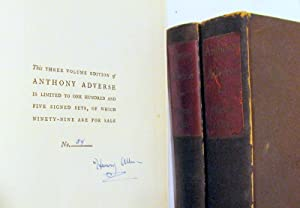 Anthony Adverse (3 volumes): Hervey Allen; decorations