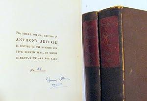 Anthony Adverse (3 volumes): Hervey Allen; decorations