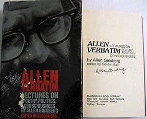 Allen Verbatim: Lectures on Poetry, Politics, Consciousness: Allen Ginsberg; Gordon Ball [Editor]