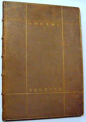 Sonette: Goethe