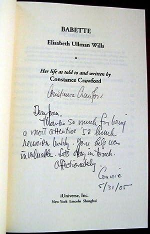Babette: Elisabeth Ullman Wills: Constance Crawford
