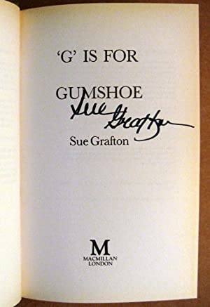 G is for Gumshoe: Sue GRAFTON