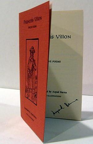 Twelve Poems: Francois Villon; translated