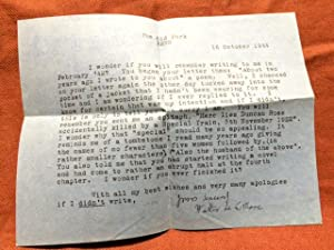 """ALS Autograph Letters Signed, Collected Poems, with Extra Stanza of """"Night"""" Hand-Written ..."""