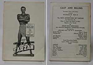 The New Adventures of Tarzan Cast and Billing Press Book (1935): Dearholt, Stout; Cohen