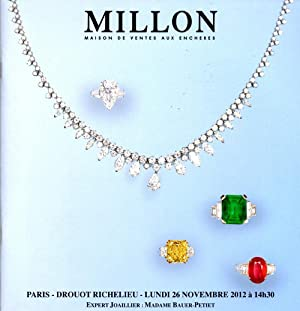 Haute Joaillerie Lundi 26 Novembre 2012: Million Maison de