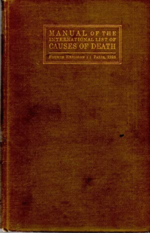 Manual of the International List of Causes of Death: Author Unknown