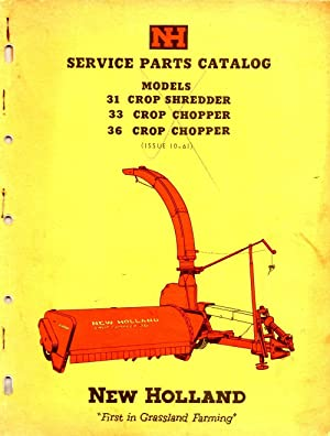 Service Parts Catalog Models 31 Crop Shredder 33 Crop Chopper 36 Crop Shredder