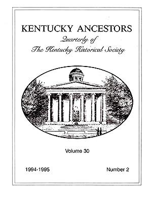 Kentucky Ancestors Volume 30 No. 2 1994-1995: Conover, Cheryl (editor)