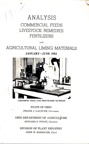 Analysis Commercial Feeds Livestock Remedies Fertilizers and Agricultural Liming Materials Januar...