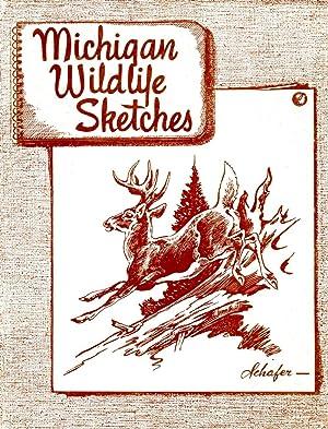 Michigan Wildlife Sketches The Native Mammals of: Bradt, G. W