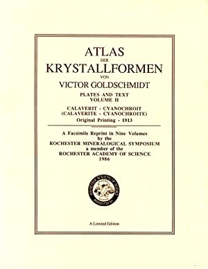 Atlas Der Krystallformen Plates and Text Volume II Calverit - Cyanochroit: Goldschmidt, Victor