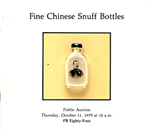 Fine Chinese Snuff Bottles Public Auction Thursday,: Author Unknown