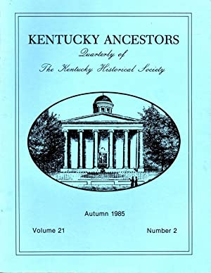Kentucky Ancestors Autumn 1985 Volume 21 No.: Conover, Cheryl (editor)