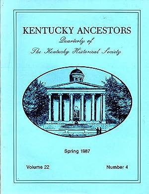 Kentucky Ancestors Spring 1987 Volume 22 No.: Conover, Cheryl (editor)