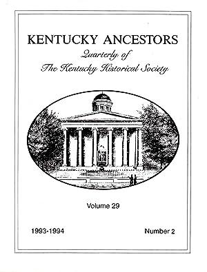 Kentucky Ancestors Volume 29 No. 2 1993: Conover, Cheryl (editor)
