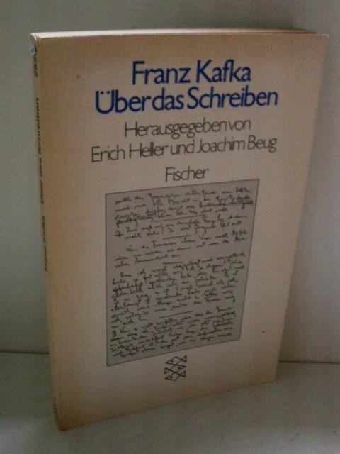 über Das Schreiben Von Kafka Franz Fischer 9783596225286